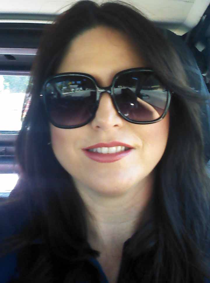gwenda perez smiles behind shades